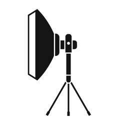 Studio lighting equipment icon simple style vector