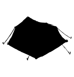 touristic tent vector image