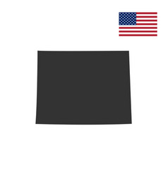 Us state on the us map wyoming vector