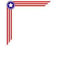 usa flag frame corner for your design vector image vector image