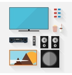Video equipment icon set vector