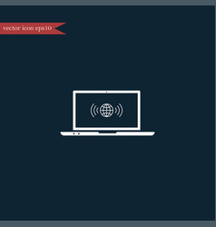 wireless icon simple vector image vector image