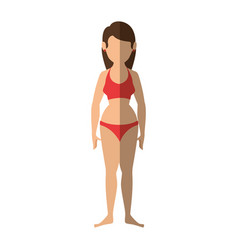 Woman with swimsuit icon vector