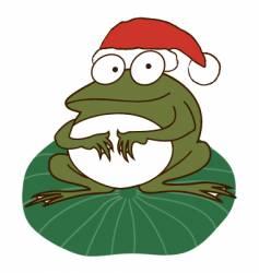 Xmas frog vector