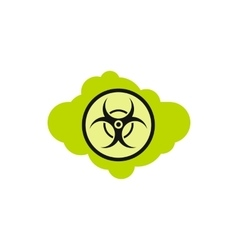 Radioactive cloud icon flat style vector