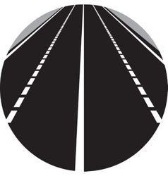 Perspective of curved road vector
