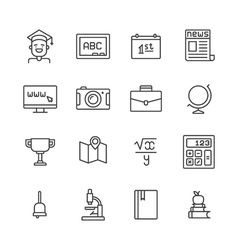 Eduacation icons set vector