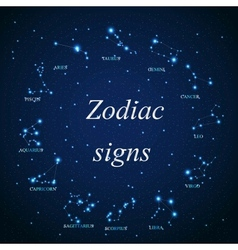 the aries zodiac sign of the beautiful bright vector image
