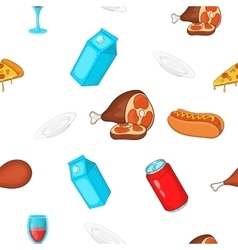 Quick snack pattern cartoon style vector