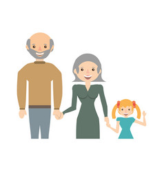 Grandparents and granddaughter family vector