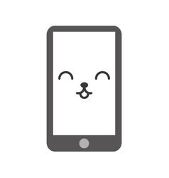 Kawaii cellphone cartoon vector