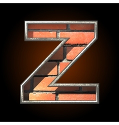 Brick cutted figure z vector
