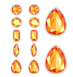 Set of five forms of amber vector