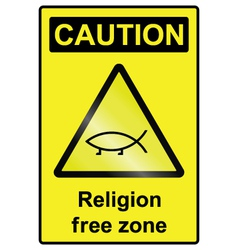 Religion free hazard sign vector