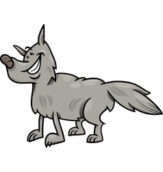 gray wolf animal cartoon vector image