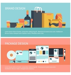 Package and brand design vector