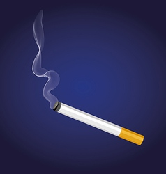 A cigarette with smoke vector
