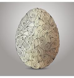 Doodles ornament easter egg background vector