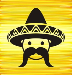 Man with sombrero vector