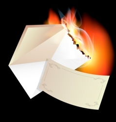 Burning envelope vector