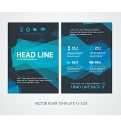 Flyer design templates abstract geometric wave vector