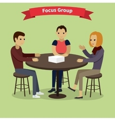 Focus group concept vector