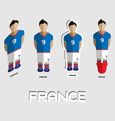 France soccer team sportswear template vector