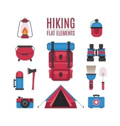 Hiking elements vector