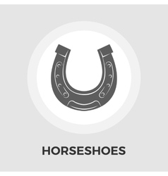 Horseshoes flat icon vector