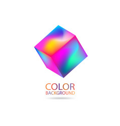 abstract color 3d cube futuristic modern design vector image