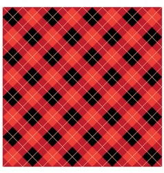 Argyle Red Design vector image