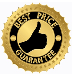 Best price guarantee golden label vector image