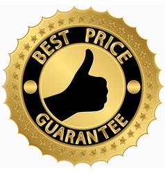 Best price guarantee golden label vector image vector image