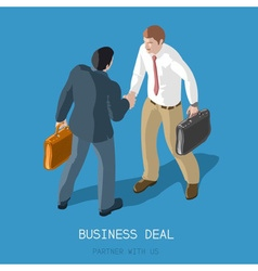 Business Deal People Isometric vector image