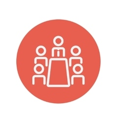 Business meeting in office thin line icon vector image vector image