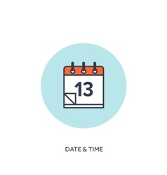Calendar lined icon date and vector