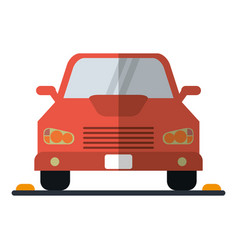 car sedan vehicle transport icon vector image vector image