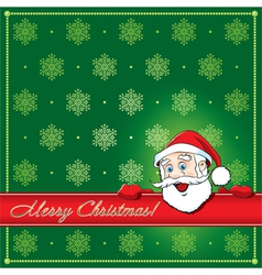 Christmas Santa Greeting card vector image
