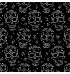 Colored skul pattern vector