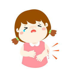 Crying girl with wounds from accident vector