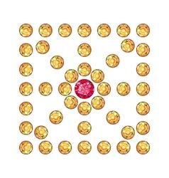 Diamond ruby square decor vector image vector image