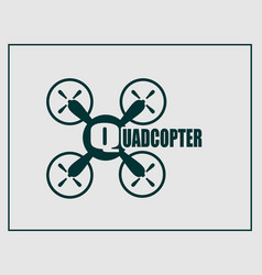 drone quadrocopter icon quadcopter text vector image