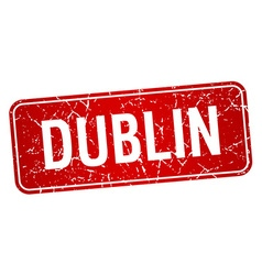Dublin red stamp isolated on white background vector image vector image