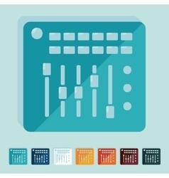 Flat design mixer controller vector image