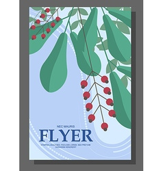 Flyers with abstract leaves and flowers on a vector image vector image