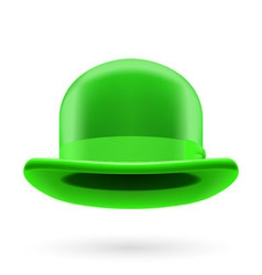 Green bowler hat vector image