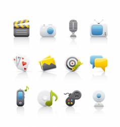 icon set entertainment vector image vector image