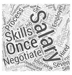 Jh salary negotiation word cloud concept vector