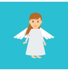 Little girl angel vector image