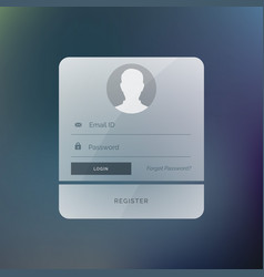 modern login form user interface design template vector image